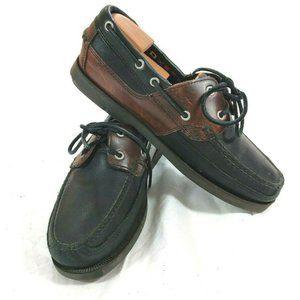 Timberland Mens 8.5 M Moc Toe Boat Deck Lace Shoes